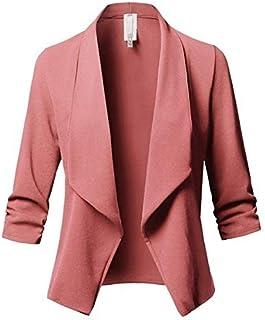 562bb53103 DCXSHG Blazer Femmes Mode Col V À Manches Longues Couleur Unie Élégant  Vêtements Blanc Femme Manteau