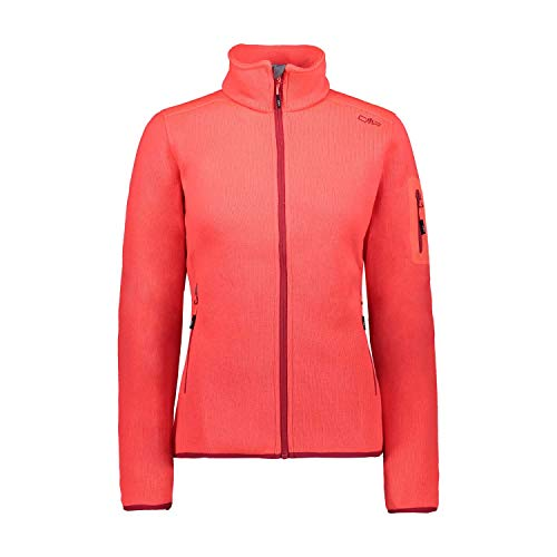 CMP Damen Knit Tech Polyester-Strickfleecejacke Fleecejacke, Red Fluo-Magenta, D42