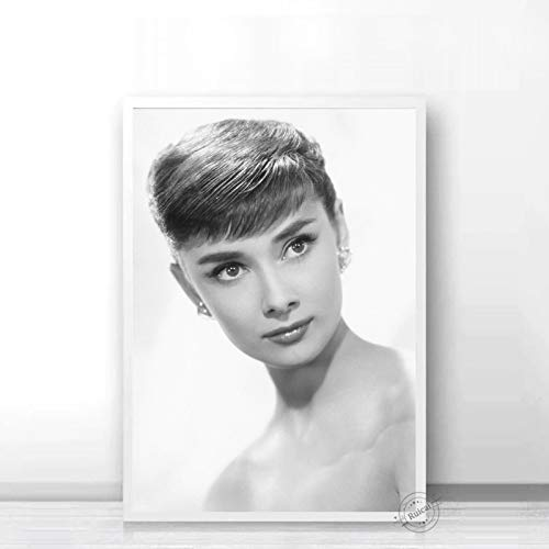 Audrey Hepburn Poster Movie Star Prints Nordic Black White Wall Art Canvas Painting Wall Pictures For Living Room Home Decor a52 50X70cm