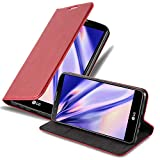Cadorabo Hülle für LG Stylus 2 - Hülle in Apfel ROT – Handyhülle mit Magnetverschluss, Standfunktion & Kartenfach - Case Cover Schutzhülle Etui Tasche Book Klapp Style