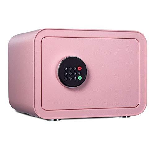 YLJYJ Sicherheit, Schlüssel Electronic Safe Stahlkonstruktion Bürohaushalt Klein - Pink - 35X28X25cm -Versicherungsbox Safebox