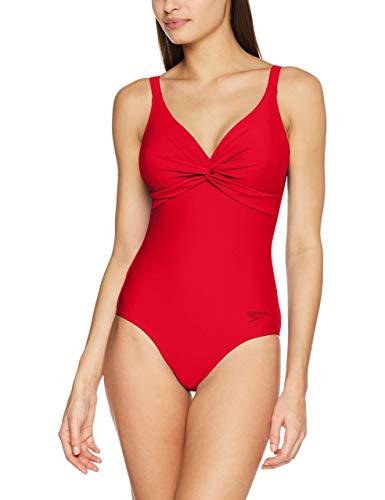 Speedo Brigitte Intero, Costume da Bagno Donna, Rosso (Fed Red), 40 (IT 48)