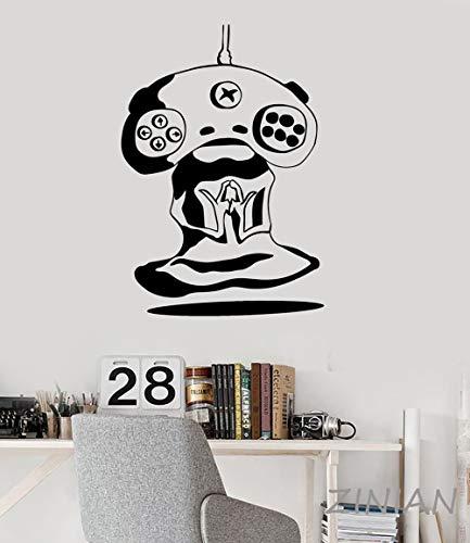 Gamer Meditation Alien Joystick Videospiel Wandtattoo Aufkleber Spielen Spielzimmer Tür Dekoration Mode Kunst Aufkleber Muraux56X80 cm