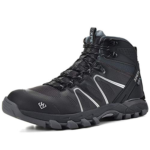 XPETI Men's Wildfire Mid Waterproof Hiking Boot (14 D(M) US, Grey/Black)