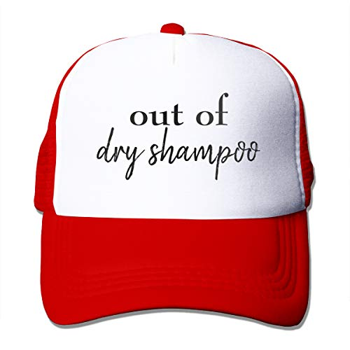 XNLHQH IJ Out of Dry Shampoo Trucker Hat Baseball Cap Dad Hat Adjustable Size Red