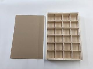 完成品 標本箱大 24マスセット 木製
