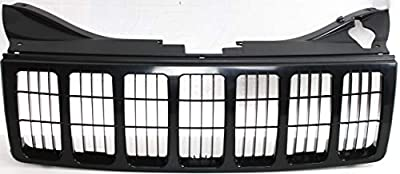 Grille Assembly Compatible with JEEP GRAND CHEROKEE 2005-2007 Black Paint to Match