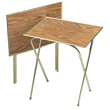 Quaker Tray Table Honey Oak 21  X 15  Oak Laminated Tops (2 Pack)