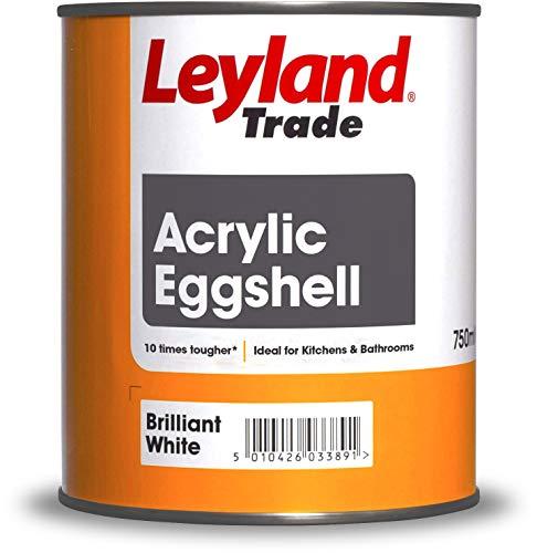 Leyland Trade 264367 Acryl Eierschale hochweiß 0,75 Liter