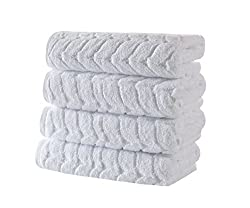 ultra-thick jacquard patterned towels on amazon