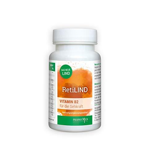 RetiLIND Augennährstoff Kapseln mit Riboflavin (B2) und Zink, vegan & hochdosiert (60 Kapseln) -Für die Unterstützung einer gesunden Netzhaut mit Soja Extrakt (Genistein & Daistein), ohne Zusatzstoffe