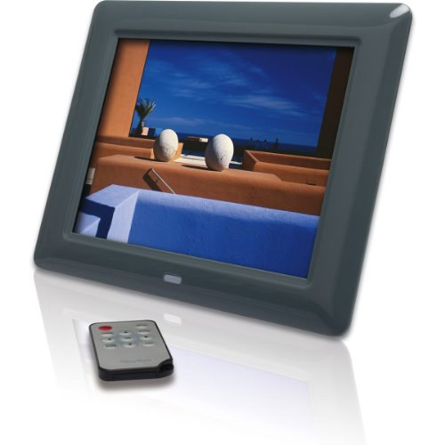 Rollei Memories 800 digitaler Bilderrahmen (20,32 cm (8 Zoll) TFT-LCD Display, Diashow, 15 mm flach, Fernbedienung) grau