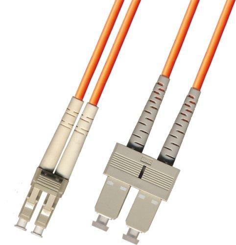 1M Multimode Duplex Fiber Optic Cable (62.5/125) - LC to SC