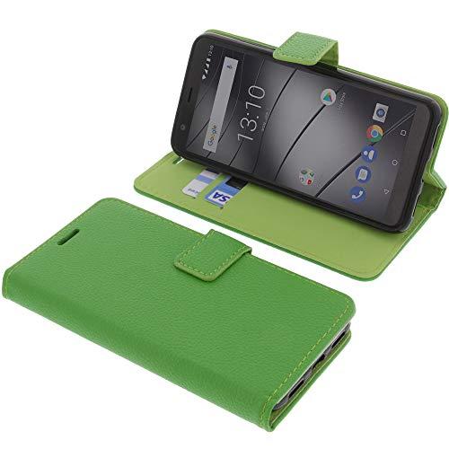 foto-kontor Tasche für Gigaset GS280 Book Style grün Schutz Hülle Buch