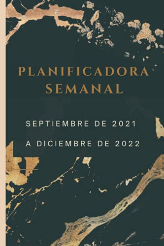 PLANIFICADOR SEMANAL: calendario SEPTIEMBRE DE 2021 A DECIEMBRE DE 2022 | Planificador semanal (una semana en 1 páginas) , ORIGINAL Y BONITA . PRIMARIA PROFESOR O PROFESORA
