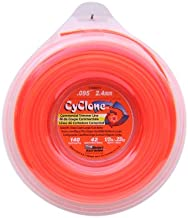 Cyclone .095-Inch-by-140-Foot Spool Commercial Grade 6-Blade 1/2-Pound Grass Trimmer Line, Orange CY095D1/2-12
