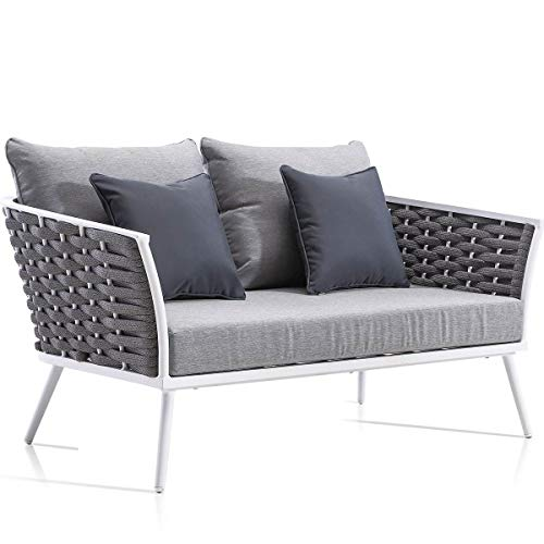 Sofá 2 plazas Aluminio 1ª Calidad Canyamel para Exterior
