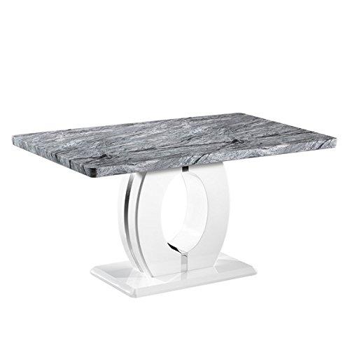Shankar Enterprises Marble Top Effect 150cm Dining Table