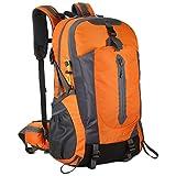 Madeinely Mochila de camping resistente al agua de 50 l, mochila de senderismo, mochila de viaje (tamaño: tamaño libre; color: naranja)