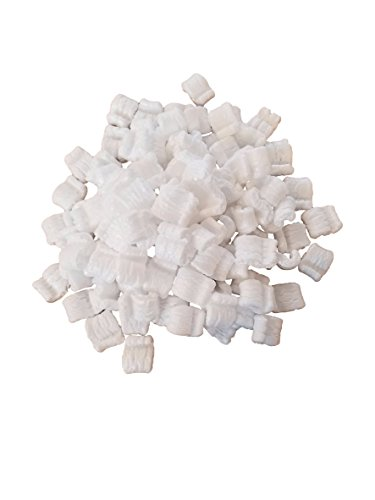 White Recyclable EPS Packing Peanuts Great for Cushioning Fragile Items by MT Products - (Approx 0.60 Cubic Foot)