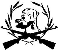 UYEDSR 車のステッカー バンパーステッカーInteretingCarステッカービニールデカール狩猟犬ラブラドールペット動物16.6X14.3Cm2pc S