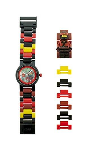 Película de Lego Ninjago Kai Kids Minifigura Link reloj | rojo para construir/black| plástico | 28mm caso diameter| analógico cuarzo | Boy Girl | oficial