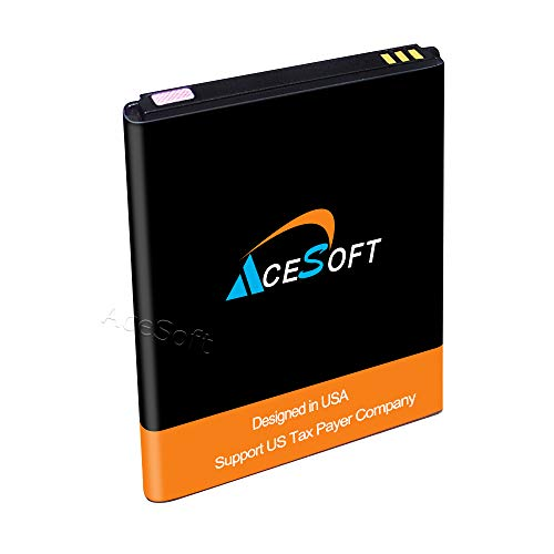 Long Lasting AceSoft 2500mAh Spare Rechargeable Li-Ion Battery for ZTE Midnight Pro LTE Z828TL Straight Talk/Tracfone/Net10