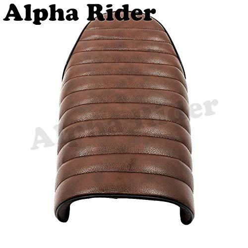 Flat Brat Brown Seat Cafe Racer Vintage Saddle for Suzuki GN125 GN250 GN400 GR650 GS250 GT250 T250 TU250 GT380 GS450 GS500 GS550