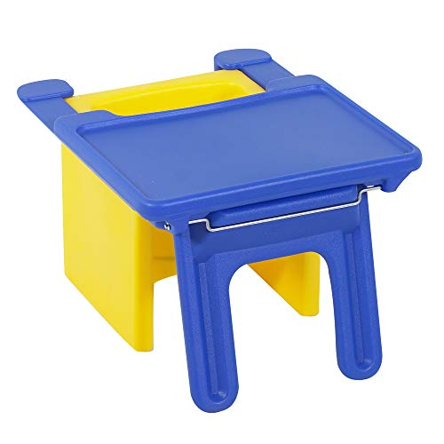 """Children's Factory Edutray, 26"""" by 21⅛"""" by 16⅜"""", Blue – Convenient Tray Fits on Front of Children's Factory Chair Cube (Sold Separately) Perfect Art, Reading, Play Surface, Folds Flat for Easy Storage"""