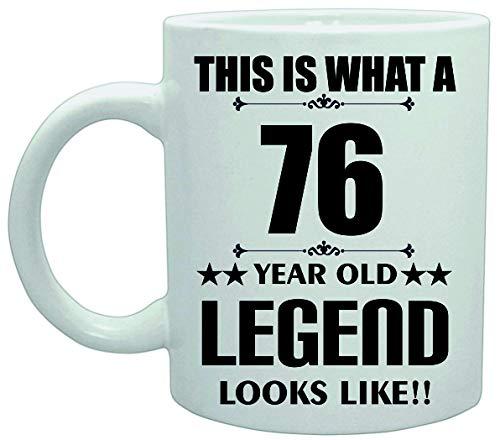 11039 Dit is Wat een 76 Jaar Oude Legende Lijkt Verjaardag Plezier Grap Koffie Theekop Keramische Vaatwasser safemug