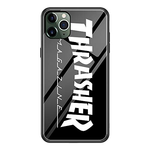 Thrasher Magazine Fire Flame Phone case for iPhone 11 Protective Bumper Case for iPhone 11 (T-White5)