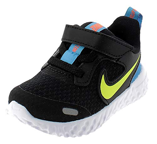 Nike Revolution 5 (TDV), Scarpe da Corsa Unisex-Bimbi 0-24, Black Lemon Venom Laser Blue, 21 EU