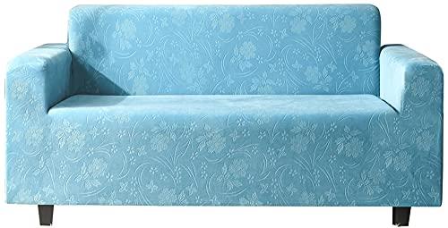 HXTSWGS Fundas de sofá,Asiento de Amor,Funda de sofá de Terciopelo de Cristal, Funda de cojín de sofá Universal (el sofá en Forma de L Necesita Comprar Dos Piezas) -Blue_XL