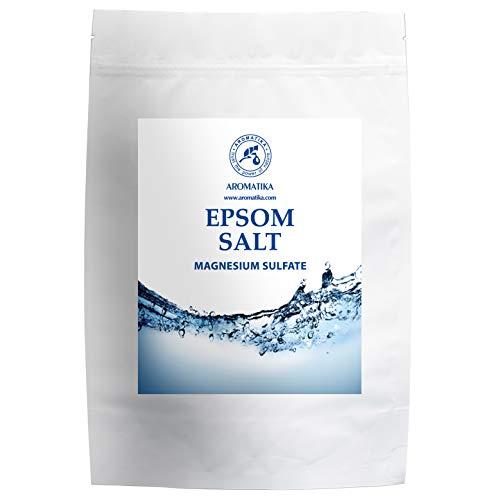 Sels de Bain 1kg - Sels Epsom 1000g - 100% Naturel Magnésium - Relaxation & Détoxification - Apaisant et Soulage les Muscles - Soin du Corps - Améliore le sommeil - Bains de Pieds