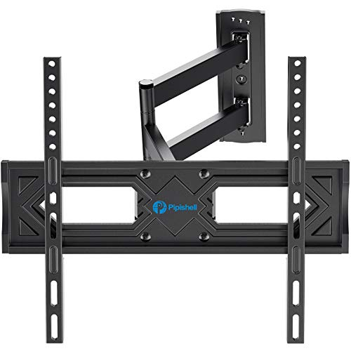 Full Motion TV Wall Mount Heavy Duty Single Articulating Arms TV Bracket for Most 2655 Inch Flat Curved TVs Up to VESA 400x400mm and 99lbs Support Swivel Tilt Level Adjustment by Pipishell