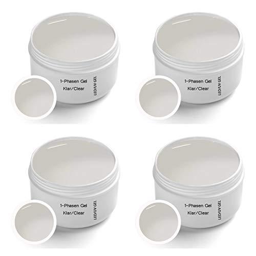 Gel UV monofasico -Clear 4 x 30ml - UV Gel