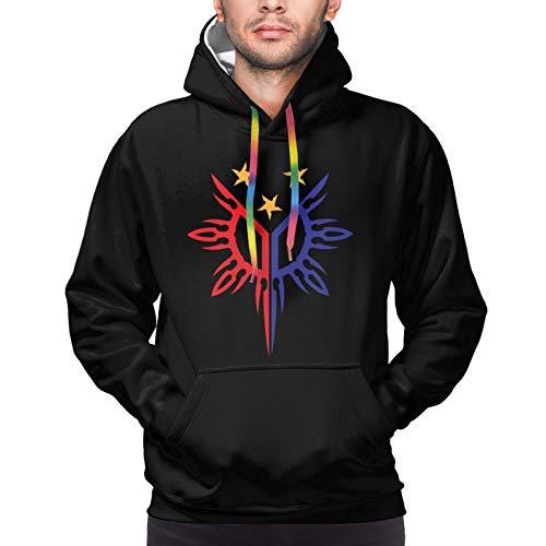 Tribal Philippines Filipino Sun and Stars Men Hoodie Long Sleeve Shirt Warm Sweatshirt Black