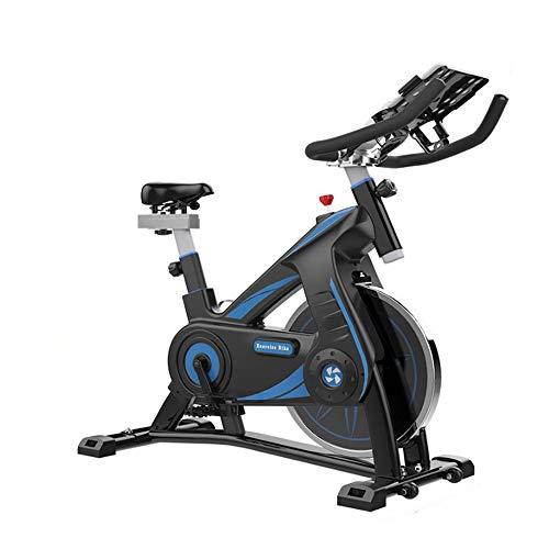DHTOMC Ciclismo Interior Inteligente Juego Bicicleta de Spinning Inicio Silencio Bicicleta estática Indoor Sports Fitness Equipment Asiento Regulable Manillar (Color : Black, Size : One Size)