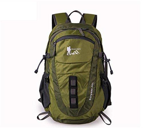 sac à dos randonnée Sac d'escalade en plein air hommes et les femmes occasionnels cross-country randonnée sac à dos sac d'emballage sous vide Sacs à dos de randonnée ( Couleur : Vert , taille : 26L )