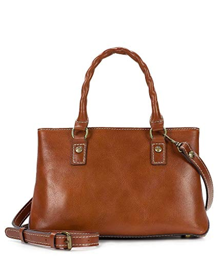 Patricia Nash Heritage Angela Double-Compartment Small Satchel, Brown