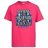 Diver Bebé Camiseta además de ser Boquerón Soy un padrazo Málaga fútbol - Rosa, 3-4 años