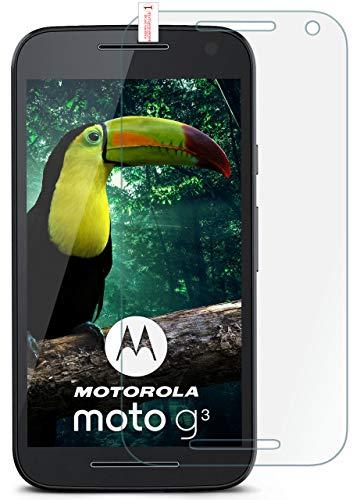 MoEx® Matte Panzerglasfolie aus 9H Echtglas passend für das Motorola Moto G3 | Kratzfest, Entspiegelnd + Reduziert Fingerabdrücke