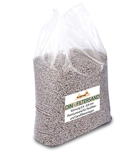 25 kg Filtersand für Sandfilteranlagen Quarzsand 0,4-0,8 mm H1 Marke Meinpool24.de Made in Germany