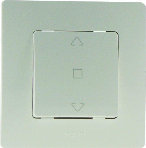 Legrand Niloe LEG96504 - Interruptor de persianas y puertas automáticas (completo), color blanco