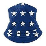 Tengyuntong XXWKer Sciarpe Collo Scaldacollo American Flag Star Stylish Fleece Neck Warmer Magic Headband