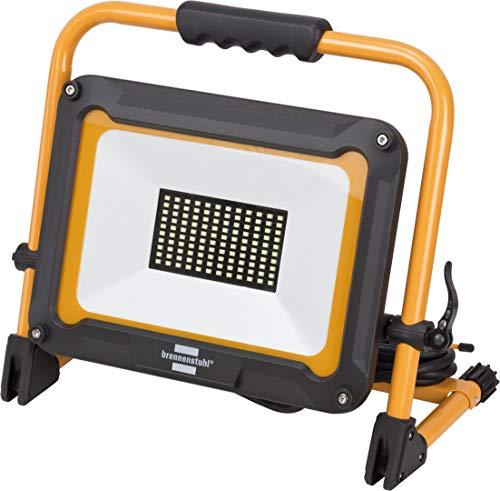 Brennenstuhl Mobiler LED Strahler JARO 7000 M / LED Baustrahler für außen IP65 (LED Arbeitsstrahler 80W mit 5m Kabel, LED Baustellenstrahler mit Schnellspannverschluss)