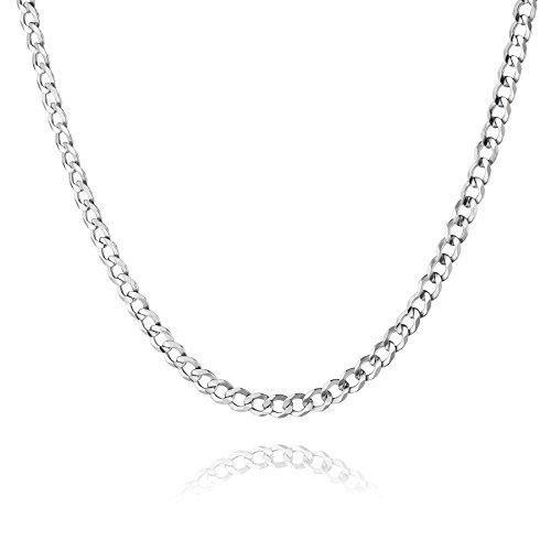 STERLL Herren Halskette Echt Silber 55cm Ohne Anhänger Schmucketui Kleine Geschenke