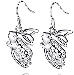 Silver rabbit earrings for women