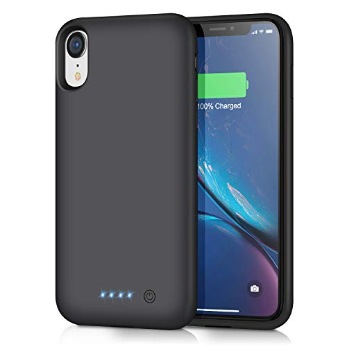 iPosible Cover Batteria per iPhone XR, 6800mAh Custodia Ricaricabile con Batteria Esterna Caricabatterie Cover Battery Case per iPhone XR, [6,1'] Batteria Protettiva Power Bank Charger Case
