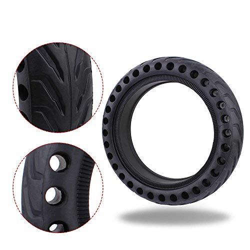 SUNJULY Llanta de Repuesto Sólida Compatible con Xiaomi M365, Neumático de Repuesto de Rueda Delantera/Trasera Antideslizante Honeycomb de 8.5 Pulgadas, Neumático Scooter Eléctrico